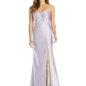 Alfred Sung NEW Lavender Sateen Formal Dress